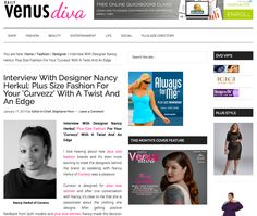 Interview With Designer Nancy Herkul by @DailyVenusDiva.com.com : Plus Size Fashion For Your 'Curvezz' With A Twist And An Edge.