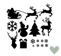Kerst stickers mix  | Tof prints | Kerstmis