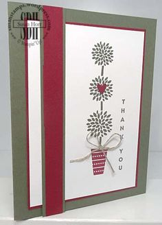 This is the third card we made at our monthly stamp club meeting. It uses the stamp set called Vertical Greetings that is in the 2016/2017 Stampin' Up! Annual Catalog. I love this new set b…