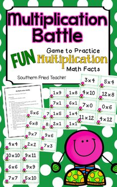 Don't have your students practice their multiplication math facts in a boring…