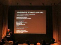 Seminar på Moderna om samtidskunst Om, Flat Screen, Flat Screen Display, Flatscreen, Dish Display
