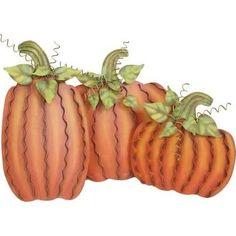 Pumpkin Decorations - Set of Three F3063