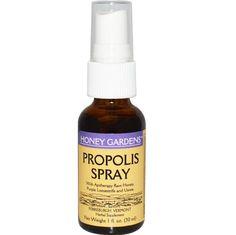 จำหน่าย ซื้อ ขาย อาหารเสริม โพรพอลิส (propolis) ราคาส่ง ยี่ห้อ Honey Gardens, Propolis Spray, 1 fl oz (30 ml)