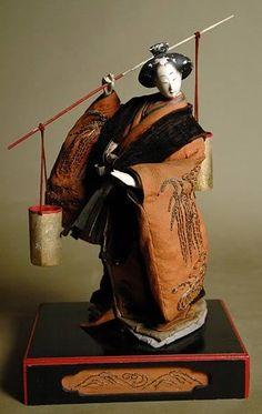 Isho Ningyo of Shiokumi (the salt maiden). Edo Period, Late 18th Century
