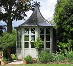 Lavenham Summerhouse by HSP Garden Buildings Outdoor Pavilion, Garden Pavilion, Garden Buildings, Garden Structures, Victorian House Plans, Conservatory Garden, Backyard Greenhouse, Shed Colours, Pool Cabana