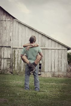 Rustic engagement photo.