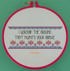 Subversive Cross Stitch - Rude Embroidery Pattern - Mature Needlepoint Design - Offensive Counted Cross Stitch- Love Hate Relationship Quote by StitchyLittleFox on Etsy https://www.etsy.com/listing/448753598/subversive-cross-stitch-rude-embroidery