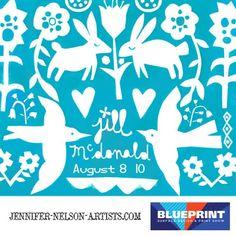 print & pattern: BLUEPRINT - jennifer nelson artists