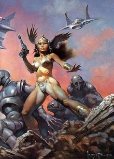 "antonievil cutrone ☠️😈 🇮🇹🇲🇽 on Twitter: ""… "" Frank Frazetta, Arte Sci Fi, Sci Fi Art, Fantasy Paintings, Fantasy Artwork, Comics Vintage, Arte Obscura, Sword And Sorcery, Science Fiction Art"