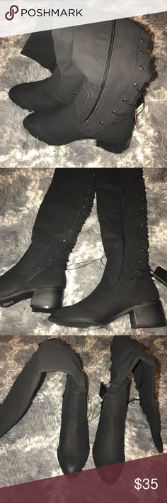 Forever 21 black over the knee boots brand new size 7.5 forever 21 over the knee black boots Forever 21 Shoes Over the Knee Boots