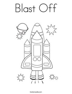 blast off vbs decorations | Blast Off Coloring Page - Twisty Noodle