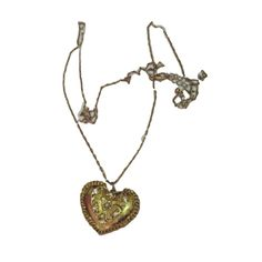 Vintage Gold Heart Necklace ❤ liked on Polyvore