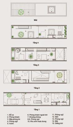 Ngôi nhà được thiết kế cho nữ chủ nhân 30 tuổi và gia đình trên diện  tích 84 m2 (4m x 21m). Nhóm KTS Sanuki và KTS Nishizawa đã kết hợp khé...