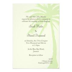 Simple Palm Tree Wedding Invitation