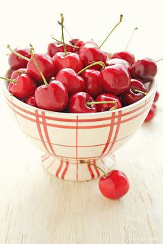 Life is a bowl of cherries...would love this bowl full of cherries for Valentine's Day...beats candy for me!