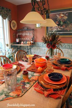 Fall Table Setting using Fiesta® Dinnerware. A blog about food, recipes and table settings. | Fleur de Lolly