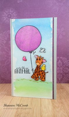 Birthday watercolor card featuring Wplus9