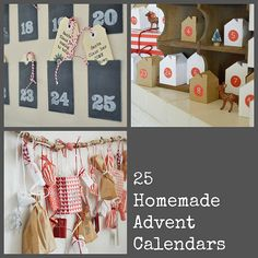 25 fabulous ideas for homemade advent calendars via @Heather Creswell Creswell Young
