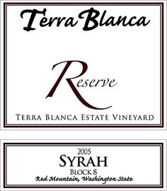 2005 Terra Blanca Reserve Red Mountain Syrah Block 8 750 mL *** Be sure to check out this awesome product.