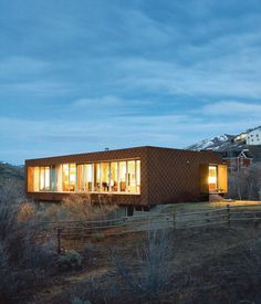 In the land of large mountain lodge wannabes, two California natives tuck Utah's first LEED for Homes–rated house onto the side of Emigration Canyon. Photo by Dustin Aksland