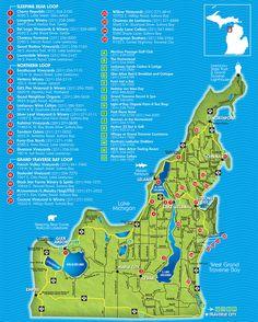 Traverse City Wine Trail Map   Leelanau Peninsula Wineries & Wine Trail