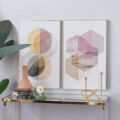 Wall Art Sets, Framed Wall Art, Wood Frame House, Contemporary Frames, String Art, White Wood, Geometric Shapes, Art Pieces, Artsy