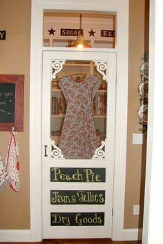 Using screen door for pantry door