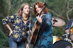 Rosanne Cash and her daughter Chelsea Crowell9 Johns granddaughter)