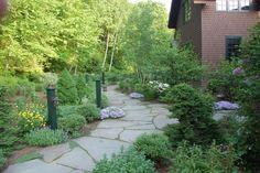 wide stone path