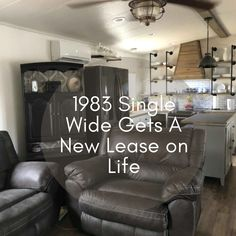 Love this look! Heated Bathroom Floor, Mobile Home Makeovers, Mobile Home Living, Single Wide, Make A Plan, Big Challenge, Ship Lap Walls, Master Closet, Floor Space