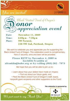 Donor appreciation invitation invitations pinterest donor recognition event stopboris