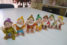 Dwarfs from Snow White - Clay idea