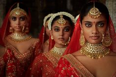 2019 Sabyasachi Charbagh Bridal Lehenga collection has a bunch of traditional red wedding lehengas, some gorgeous destination wedding outfits + lots more. Sabyasachi Collection, Bridal Lehenga Collection, Bridal Looks, Bridal Style, Contemporary Wedding Jewellery, Bridal Lehenga Choli, Wedding Lehnga, Wedding Mandap, Wedding Hijab