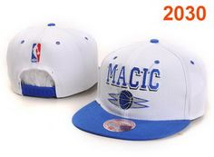 Mitchell & Ness NBA Orlando Magic White Blue Snapbacks Symbols