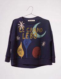 Bobo Choses - Donkerblauwe sweater Magic Powders