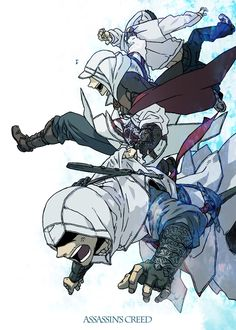 Ezio wants to have fun. Altaïr is pissed off. Poor Desmond is just getting dragged along -- Lol Ezio the troll XD Assassins Creed Comic, Assasins Cred, Ezio, Assassin's Creed Wallpaper, All Assassin's Creed, Video Game Characters, Game Art, Skyrim, Pokemon