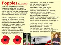 Poppies read by Jane Weir (AQA Conflict Anthology) Poppies Poem, Gcse English Language, Gcse English Literature, Poetry Anthology, Gcse Revision, Aqa, School Notes, Classroom Ideas
