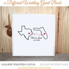Wedding Guest Book Canvas  your place and my by alovelydetail, $95.00