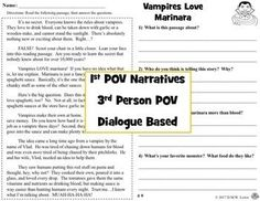 20 fictional OCTOBER stories with four written questions each! They are perfect for quick reading and are fun passages that include The Zombie Problem at North Elementary, Monsters Don't Make Sense, The House of Buckets (fire safety), Vampires Love Marinara, and more! High-interest, NO-PREP passages w/ easy teacher key. These stories are UNLIKE any other reading passages on TPT. Students LOVE them! They are mostly Halloween but you'll get some variety for the whole month. Close Reading Lessons, Writing Lessons, Reading Skills, Esl Resources, Classroom Resources, Teacher Resources, 5th Grade Classroom, Balanced Literacy