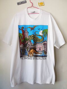 Vintage 90s Dinosaurs of Balboa Park San Diego Shirt by loveisover, $10.00
