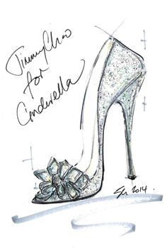 """""""I think every girl desires a Cinderella moment in their lives. This story ignites a love affair and fascination with shoes that never dies. The power they have to transform is instilled from a young age and the fantasy remains alive forever. I wanted to create a shoe that felt magical, with alluring sparkle and a feminine, timeless silhouette evoking those childhood emotions.""""—Sandra Choi, creative director - ELLE.com"""