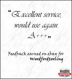 Feedback earned on ebay for #woodfordtooling