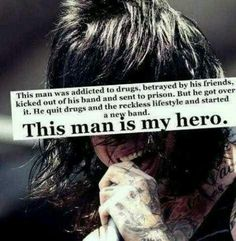 I wouldn't exactly say he's my hero, but he definitely is an inspiration to me, and I'm proud to call myself a fan of his.