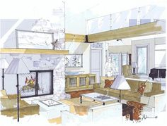Livable Machine Interior Design Blog: Hand Rendering