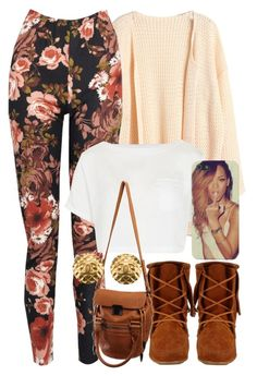 """""""Untitled #968"""" by power-beauty ❤ liked on Polyvore featuring Boohoo, Topshop, Minnetonka, Life With Bird and Chanel"""