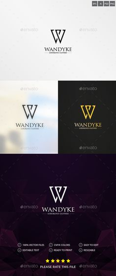 Letter W Logo — Photoshop PSD #simple #design • Available here → https://graphicriver.net/item/letter-w-logo/11589411?ref=pxcr