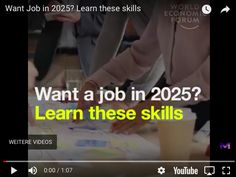 Want a job in 2016 ? Then must learn these skills they have lot of potential and excellent scope in future Video Courtesy: World Economic Forum Like facbook . To Move Forward, Moving Forward, New Work, Future, Learning, Create, Move Forward, Future Tense, Studying