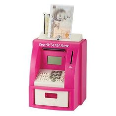 Atm bank cash machine coin note #counter #saving #money box gift piggy bank pink,  View more on the LINK: http://www.zeppy.io/product/gb/2/221797791063/