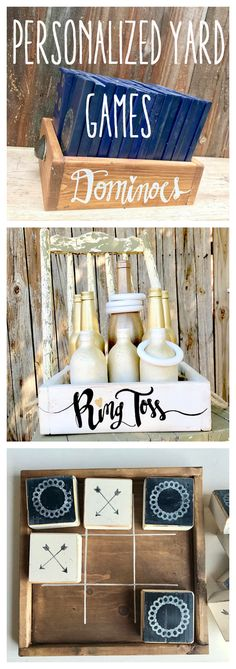Personalized yard games perfect for your wedding, baby shower, or just some good old BBQ fun.