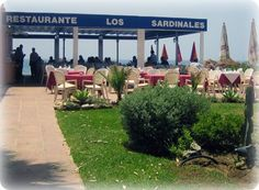 Los Sardinales A great place to eat traditional Spanish food in a sunny friendly setting by the beach. Make a reservation if you want to eat on the terrace during sunny week-ends.  Crta. de Cádiz direction Málaga, Km. 188, exit 'Urb. Alicate'.    +34 95 283 70 12 www.lossardinales.com  A typical Spanish seafood restaurant on the beach. They have an open terrace and lounge chairs for rent. Bring a towel and some beach toys for your child to play in the sand while you're waiting for your food.